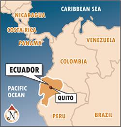 Location Of Ecuador On World Map.Programs Brochure Au Abroad