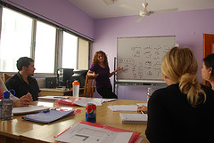 A photo of manal teaching