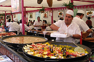 Spanish paella at a street market