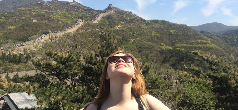 Student at the Great Wall