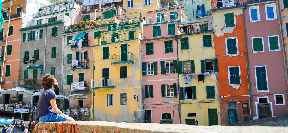 A colorful city in Italy