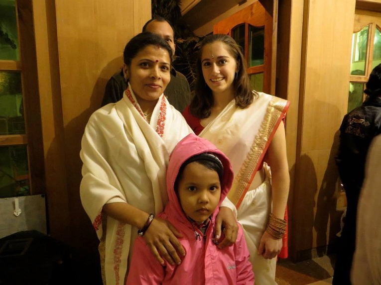 The host family of a student in Varanasi