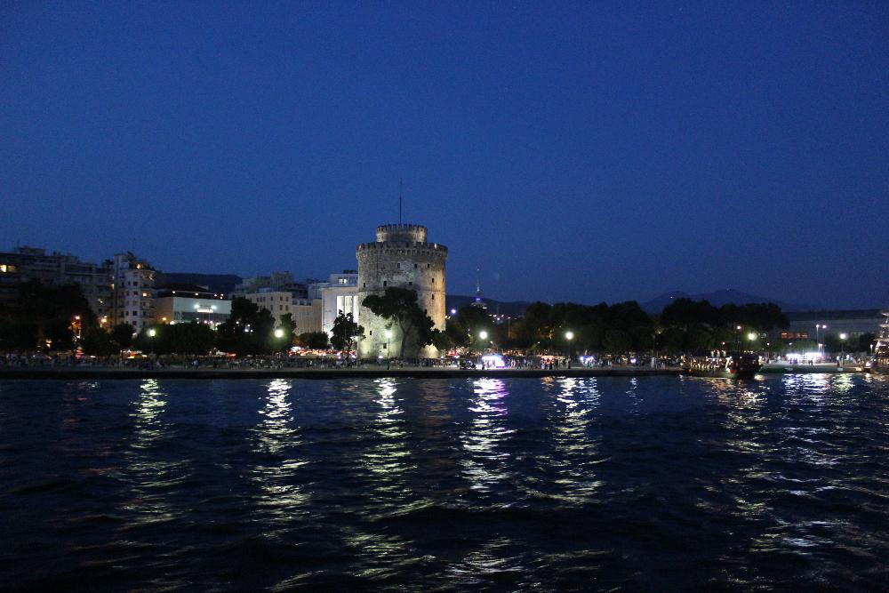 Thessaloniki city at night