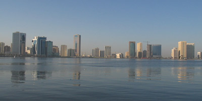 Sharjah view from Persian Gulf