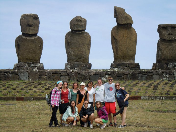 Group on Easter Island