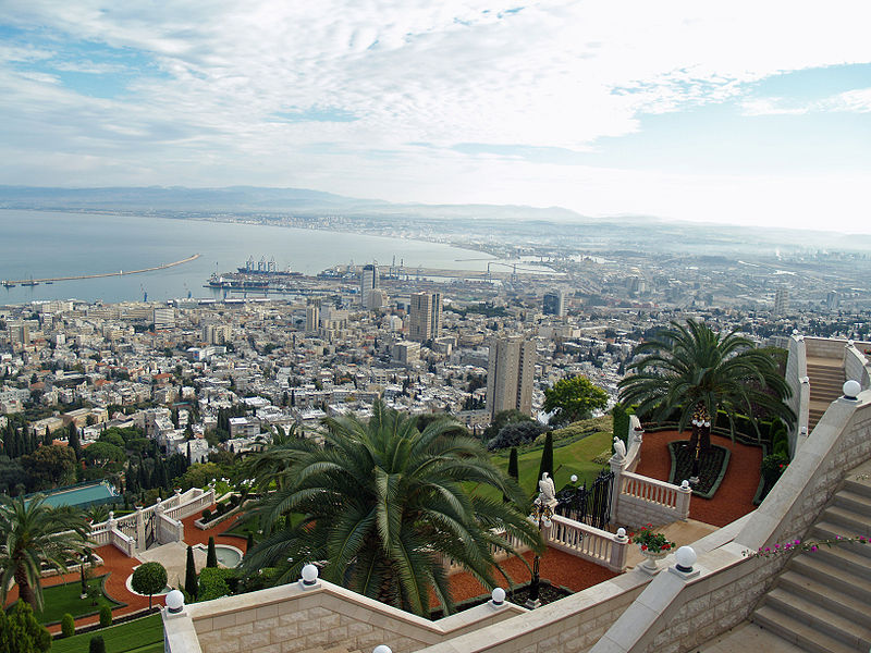 Overhead view of Haifa